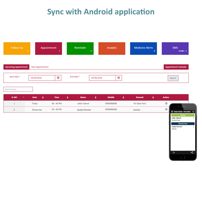 Sync with Android application